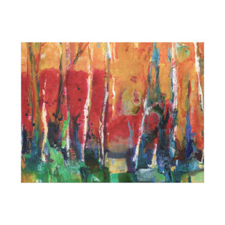 Peinture abstraite d'art de paysage d'automne toiles