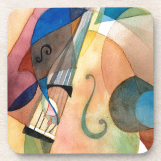 """Peinture """"Bassline """" de musique de jazz Sous-bocks"""