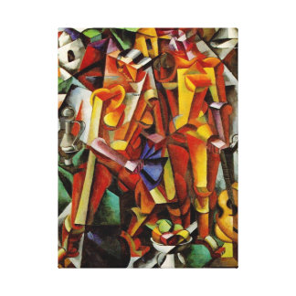 Peinture cubiste abstraite moderne - reproduction  impression sur toile