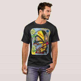 """Peinture """"d'abeille abstraite de jardin de mod de t-shirt"""