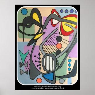"""Peinture """"de chanson d'araignée de mod de la poster"""