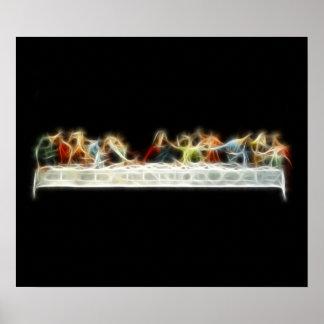 Peinture de fractale de da Vinci Jésus de dernier  Poster