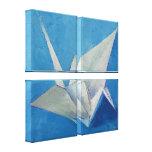 Peinture de grue d'origami toile tendue