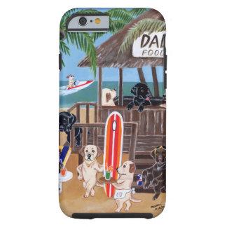 Peinture de Labradors de vacances d'été Coque iPhone 6 Tough