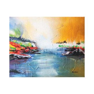 """Peinture de paysage d'abrégé sur """"roche rouge"""" sur toiles"""