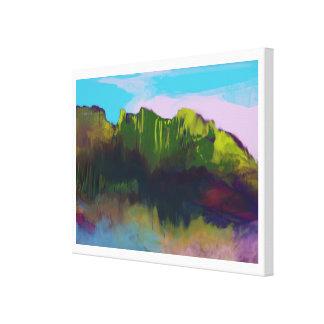 peinture de paysage gentille toile tendue
