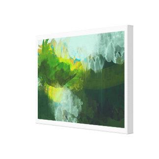 peinture de paysage tropicale abstraite toile tendue sur châssis