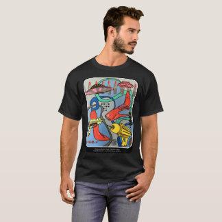 """Peinture """"d'invasion de charme de mod de la moitié t-shirt"""