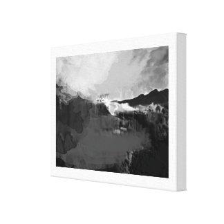 Peinture fictive noire et blanche impression sur toile