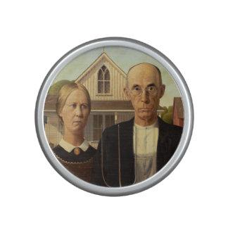 Peinture gothique américaine de beaux-arts de haut-parleur bluetooth