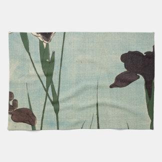 Peinture japonaise d Ukiyo-e de jardin vintage Serviettes Pour Les Mains
