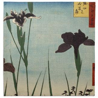 Peinture japonaise d Ukiyo-e de jardin vintage Serviette En Tissu