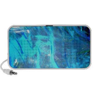 Peinture populaire d'abrégé sur bleu d'amants d'oc haut-parleurs mp3