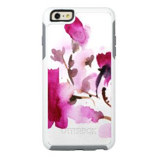 Peintures florales abstraites 4 d'aquarelle coque OtterBox iPhone 6 et 6s plus
