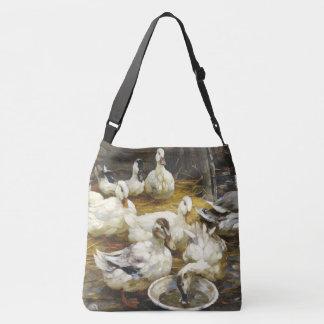 Pekin Ducks Wildlife Animals Barn Tote Bag