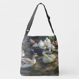Pekin Ducks Wildlife Animals Pond Tote Bag