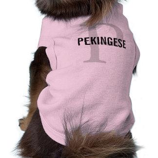 Pekingese Breed Monogram Design Dog Clothing