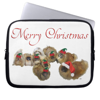 Pekingese Celebrate Christmas Laptop Sleeve
