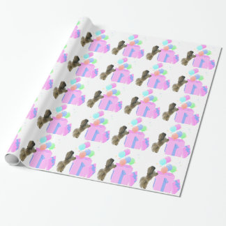 Pekingese Celebration Balloons Wrapping Paper