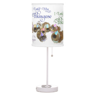 Pekingese Celebration Group Table Lamp