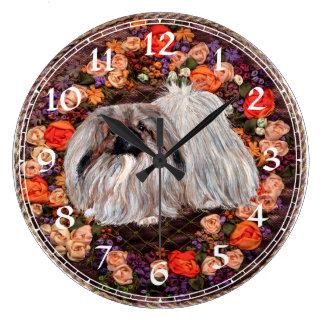 Pekingese Clock