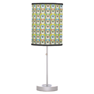 Pekingese Dog Cartoon Pop-Art Table Lamp