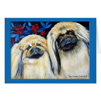 Pekingese Dog Greeting Cards