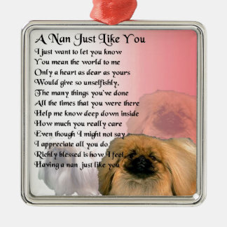 Pekingese Dog -  Nan Poem Metal Ornament