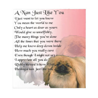 Pekingese Dog -  Nan Poem Notepad