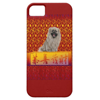 Pekingese Dog on Happy Chinese New Year Case For The iPhone 5