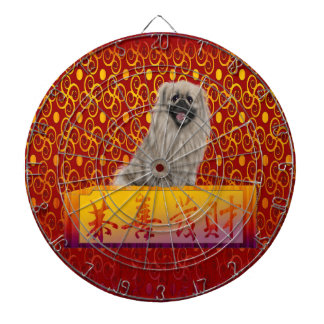 Pekingese Dog on Happy Chinese New Year Dartboard