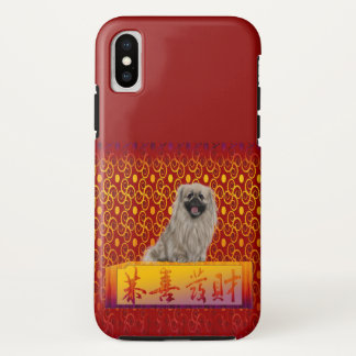 Pekingese Dog on Happy Chinese New Year iPhone X Case