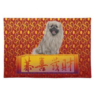 Pekingese Dog on Happy Chinese New Year Placemat