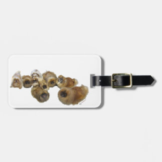 Pekingese Group Luggage Tag