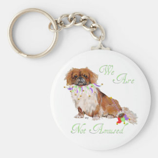 Pekingese in Party Mode Keychain