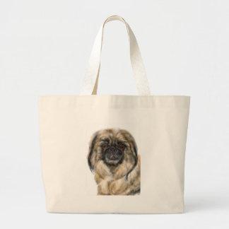 Pekingese Large Tote Bag