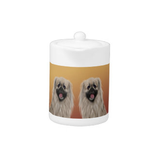 Pekingese on Asian Design Chinese New Year, Dog