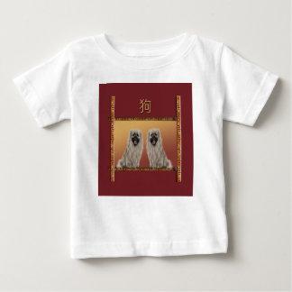 Pekingese on Asian Design Chinese New Year, Dog Baby T-Shirt