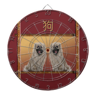 Pekingese on Asian Design Chinese New Year, Dog Dartboard