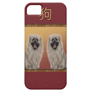 Pekingese on Asian Design Chinese New Year, Dog iPhone 5 Cover