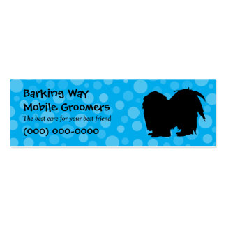 Pekingese Pet Care Blue Pack Of Skinny Business Cards