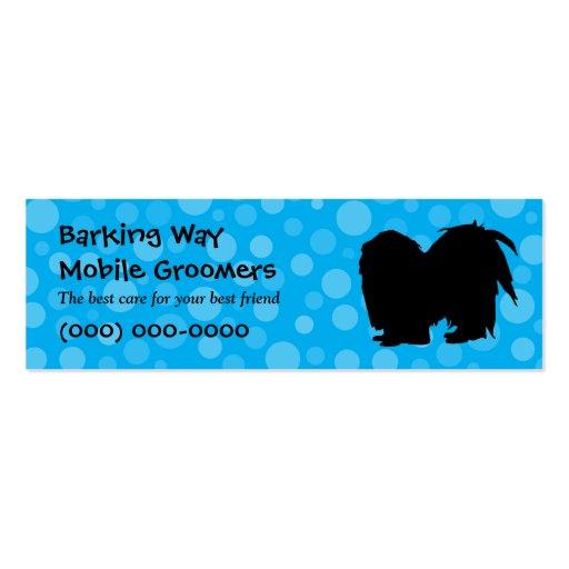 Pekingese Pet Care Blue Business Cards
