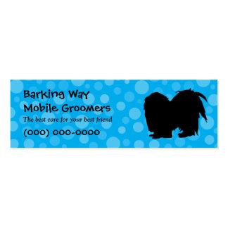 Pekingese Pet Care Blue Mini Business Card