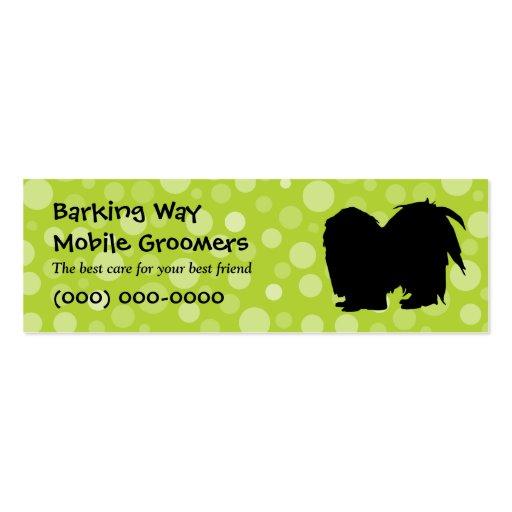 Pekingese Pet Care Lime Business Card Templates