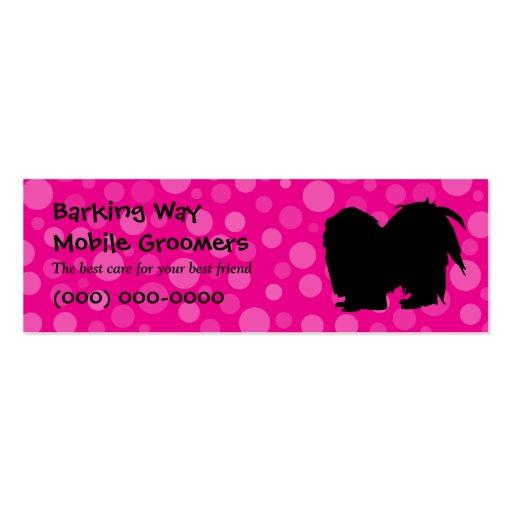 Pekingese Pet Care Pink Business Card Template