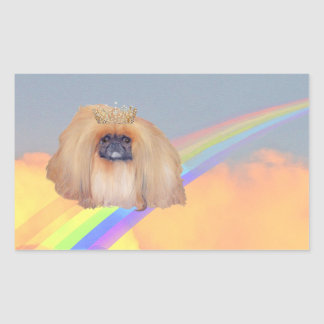 Pekingese Rainbow Sticker