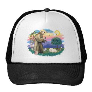 Pekingese (white) trucker hat