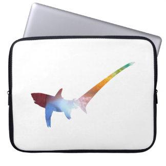 Pelagic thresher laptop sleeve