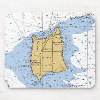 Pelee Island, Ontario nautical chart Mousepad