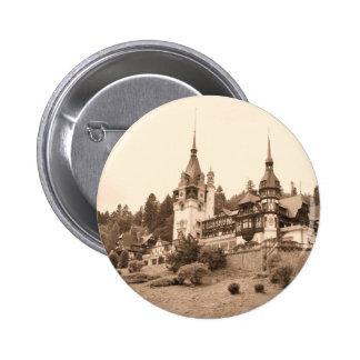 Peles Castle in Sinaia, Romania 2 Inch Round Button